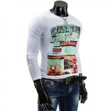 Pánské stylové triko (tričko) s dlouhým rukávem
