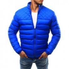 Pánská bunda prošívaná bez kapuce světle modrá