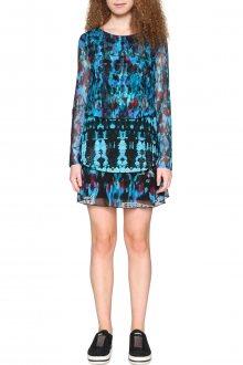 Desigual modré šaty Tona  - L