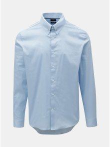 Světle modrá slim fit košile s detailem ve stříbrné barvě  Burton Menswear London