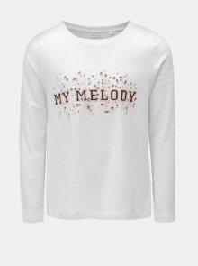 Bílé holčičí tričko s potiskem Name it Volet