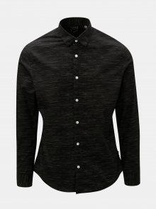 Černá žíhaná slim fit košile ONLY & SONS Oneill