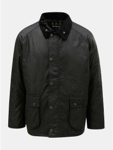 Černá zimní bunda s manšestrovými detaily Barbour Strathyre Wax