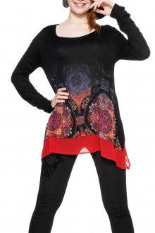 Desigual černé tričko Olga - XS