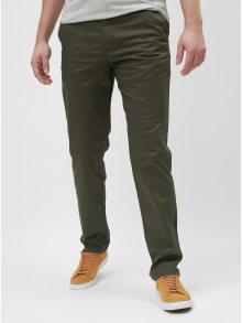 Khaki slim kalhoty s páskem Selected Homme Yard
