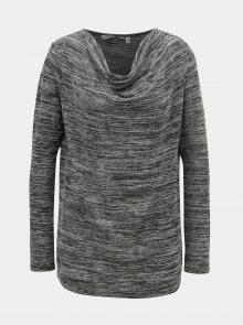 Černo-šedé dámské žíhané tričko s dlouhým rukávem Garcia Jeans