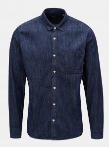 Tmavě modrá džínová slim košile ONLY & SONS Kade