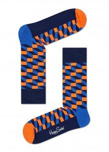Happy Socks modro-oranžové ponožky Filled Optic - 36-40