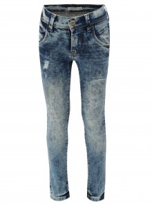 Modré klučičí skinny džíny s potrhaným efektem name it Pete