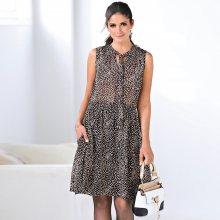 Venca Krátké šaty s puntíky růžová 40