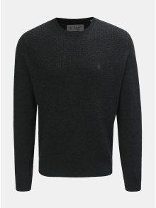 Tmavě šedý svetr z Merino vlny Original Penguin