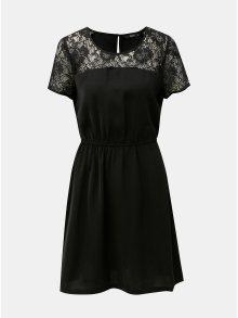 Černé šaty s krajkovými detaily Only Glam