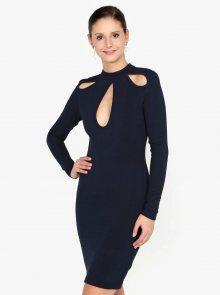 Tmavě modré šaty s průstřihy AX Paris