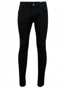 Černé slim fit džíny Selected Homme Slim Leon