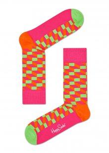 Happy Socks růžové ponožky Filled Optic - 36-40