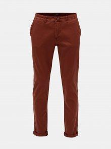 Hnědé pánské stretch chino kalhoty Garcia Jeans