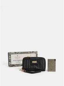 Černá peněženka s powerbankou 2000 mAh v dárkovém balení Something Special