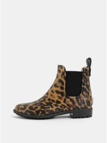 Hnědo-béžové dámské vzorované gumové chelsea boty Tom Joule