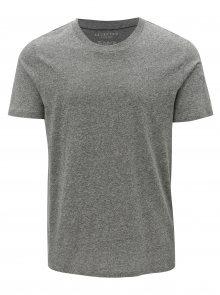 Světle šedé žíhané basic tričko Selected Homme The Perfect