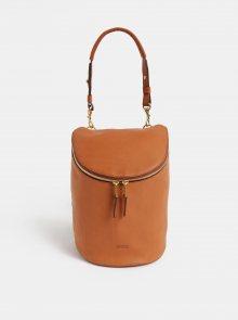 Hnědý kožený batoh BREE Stockholm 40