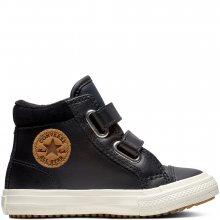 Converse černé kožené boty Chuck Taylor All Star 2V PC Boot Hi Black - 21