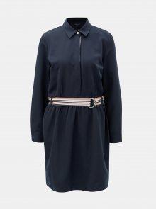 Tmavě modré šaty s gumou v pase Nautica