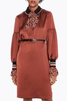 Scotch & Soda bronzové šaty Metallic - XS
