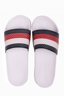 Tommy Hilfiger pánské barevné pantofle Hilfiger Pool Slide White - 41