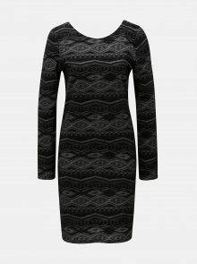 Černé pouzdrové vzorované šaty ONLY