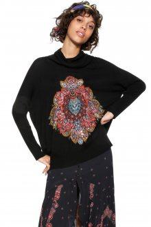 Desigual černý oversize svetr Cassandra - M