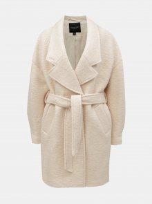 Světle růžový vlněný kabát s páskem Selected Femme Paja