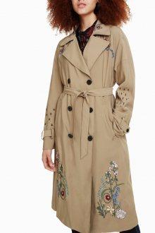 Desigual béžový kabát Malang - 36