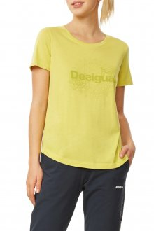 Desigual výrazně žluté sportovní tričko Tee Co Essentials - S