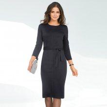 Venca Krátké šaty se 3/4 rukávy černá 38