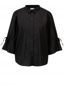 Černá volná košile s 3/4 rukávem Jacqueline de Yong Cady