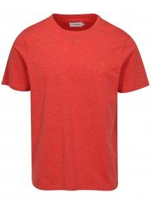 Červené žíhané basic tričko Farah Denny