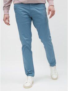 Světle modré slim kalhoty s páskem Selected Homme Yard