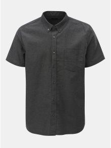 Šedá košile s krátkým rukávem Burton Menswear London Oxford