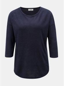 Tmavě modrý lehký svetr s 3/4 rukávem Jacqueline de Yong Hush