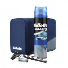Gillette Dárková sada pro muže s kosmetickou taškou Mach3