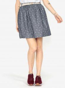 Modrošedá vzorovaná sukně s páskem Ragwear Mare B