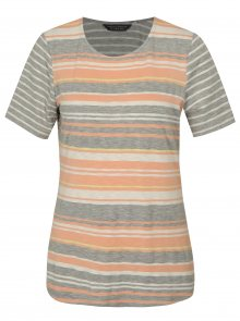 Meruňkovo-šedé pruhované tričko Dorothy Perkins Tall