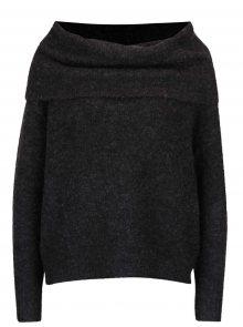 Tmavě šedý svetr s příměsí vlny ONLY Bergen