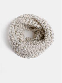 Krémová vzorovaná šála s metalickým vláknem ONLY Tibana
