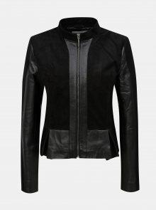 Černá kožená bunda s kapsami VILA Laja
