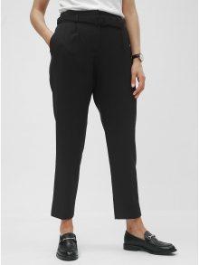 Černé kalhoty s vysokým pasem a páskem Dorothy Perkins
