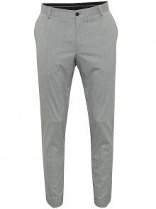 Světle šedé oblekové kalhoty Selected Homme Newone