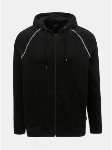 Černá mikina na zip s kapucí Burton Menswear London
