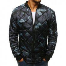 Pánská maskáčová STYLE bunda prošívaná bomber jacket camo šedá
