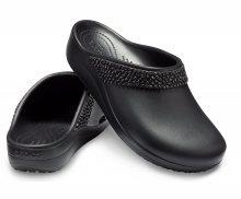 Crocs černé pantofle Sloane Diamante Clog Black s kamínky - W5